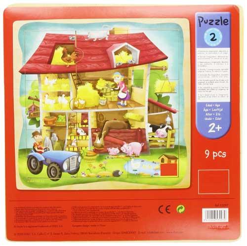 Puzzle granja 9 piezas detalle de la caja