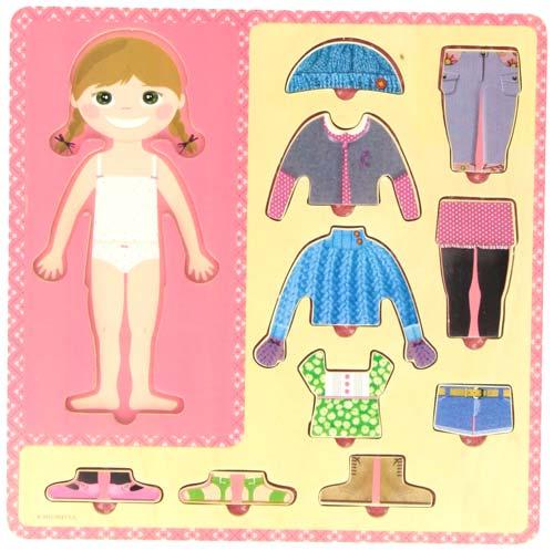 Puzzle vestir niña