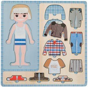 Puzzle vestir niño