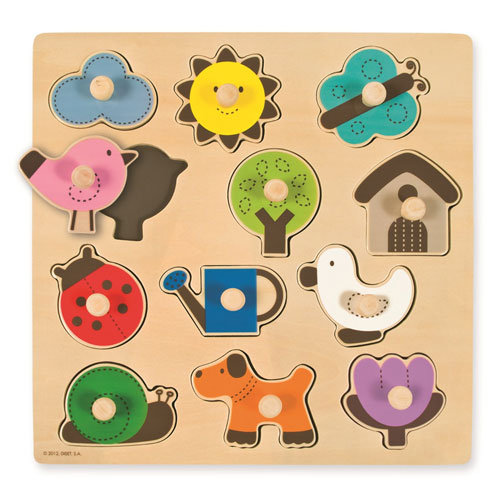 Puzzle siluetas campo 12 piezas