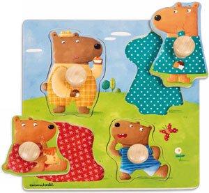 Encajable familia osos
