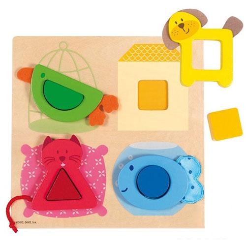 Puzzle mascotas geométricas