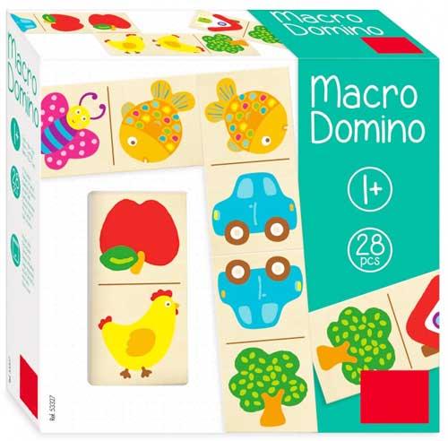 Macro Dominó detalle de la caja