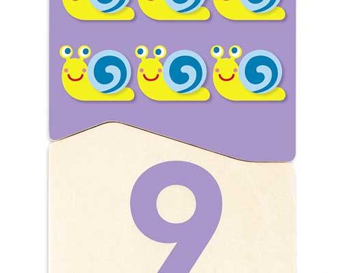 Puzzle 20 pz Duo Números 1-10 detalle de las piezas