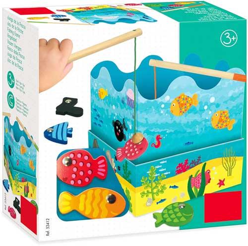 Juego de la pesca detalle de la caja