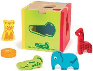 Encajable Cubo animales selva