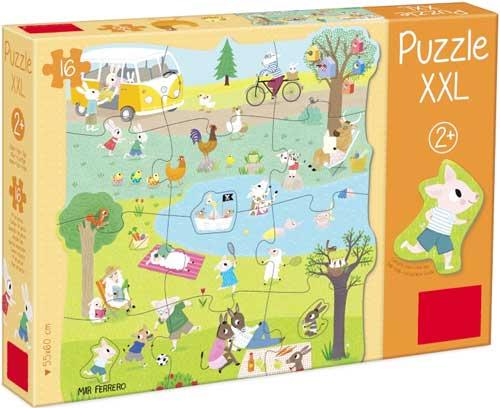 Puzzle XXL un día en el campo 16 piezas detalle de la caja