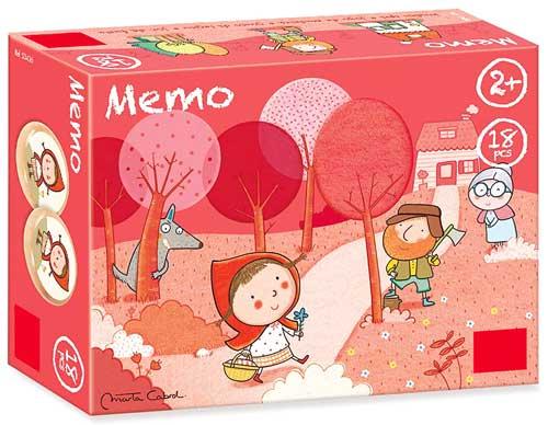 Memory Caperucita roja 18 piezas detalle de la caja