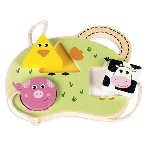 Puzzle 3 animales granja