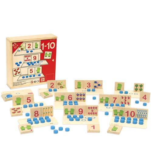 Puzzle Duo números 1-10