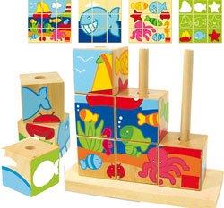 Puzzles cubos mar
