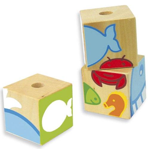 Puzzle cubos mar detalle 1