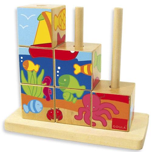 Puzzle cubos mar