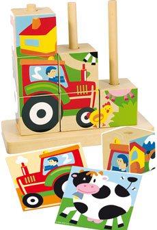 Puzzle cubos granja