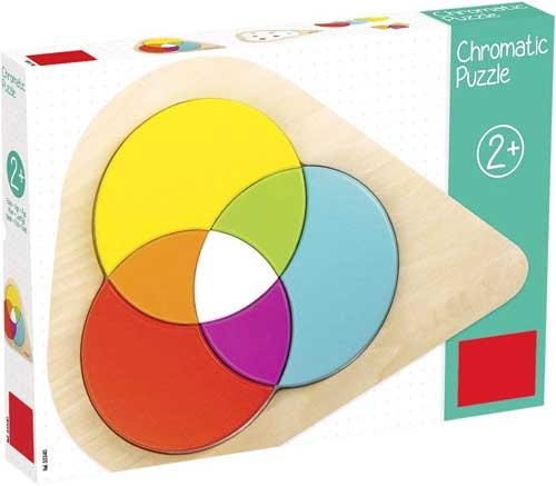 Puzzle cromático 7 piezas detalle de la caja