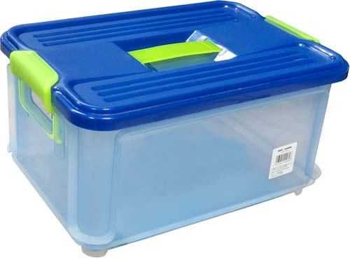 Caja multiusos Clack con tapa 9 litros detalle 1