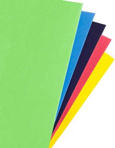 EVA 2 mm 90 x 70 cm bolsa 5 colores