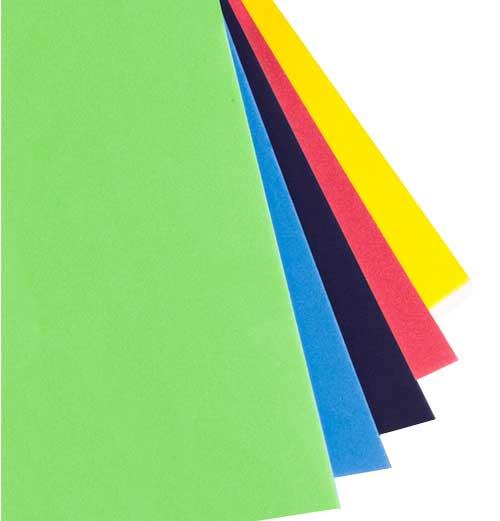 EVA 5 mm 60 x 40 cm bolsa 5 colores