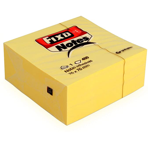 Notas adhesivas amarillas 75 x 75 mm 400 h