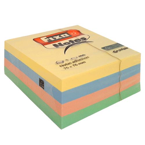 Notas adhesivas colores pastel 75 x 75 mm 400 h
