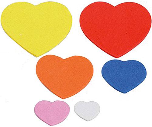 Eva adhesivo corazones 90 ud
