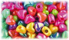 Abalorios corazones plástico