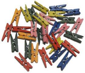 Pinzas de madera pequeñas color