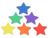 Eva estrellas adhesivas 100 ud