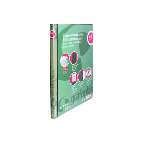 Carpeta personalizable de fundas A5 20 fundas detalle 2
