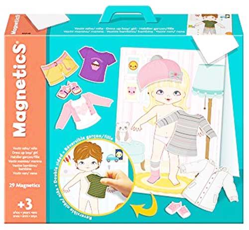 Magnetics vestir niño y niña detalle de la caja