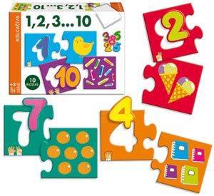 Puzzle números 1-10