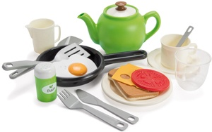 Green garden breakfast set