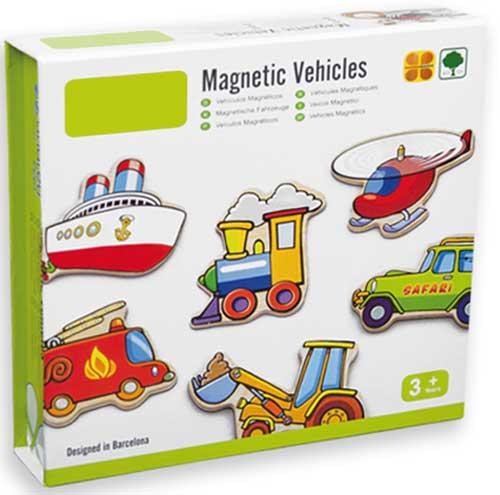 Vehículos magnéticos detalle de la caja