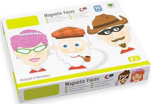 Caras magnéticas detalle de la caja