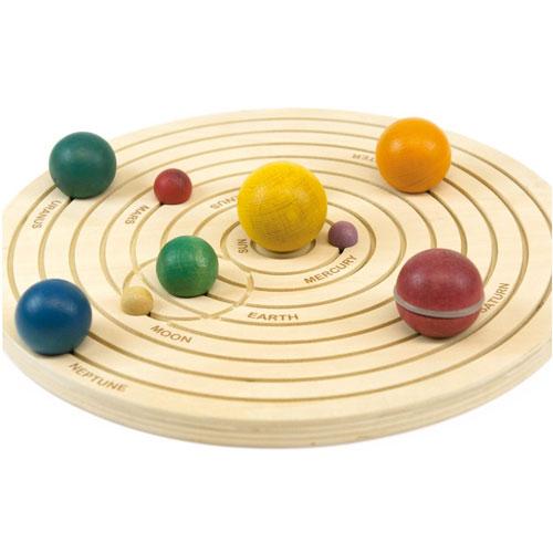 Sistema solar 3D en madera