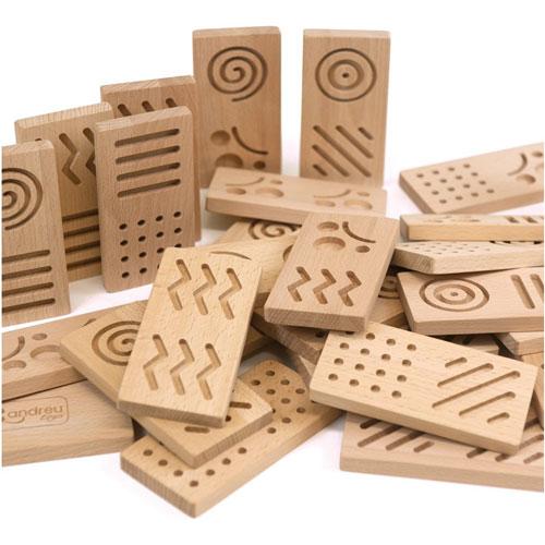 Dominó XL sensorial madera