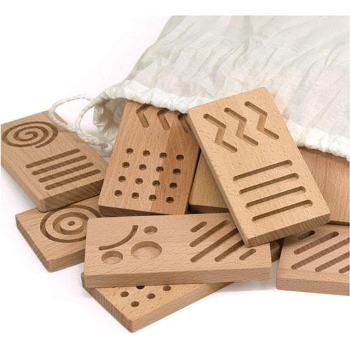 Dominó XL sensorial madera detalle 1