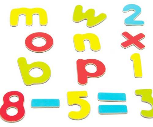 Letras y números magnéticos detalle