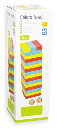 Torre de colores detalle de la caja