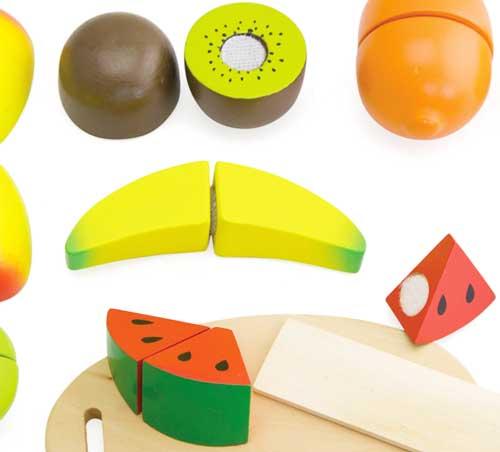 Comiditas fruta madera (10 pz.) detalle 2
