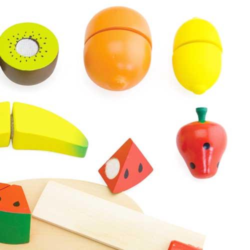 Comiditas fruta madera (10 pz.) detalle 3