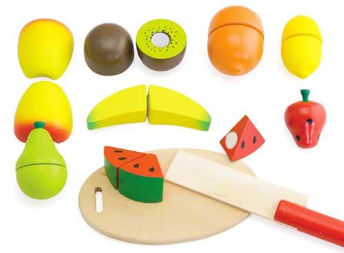 Comiditas fruta madera (10 pz.)