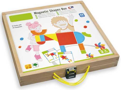 Caja de formas magnéticas detalle de la caja