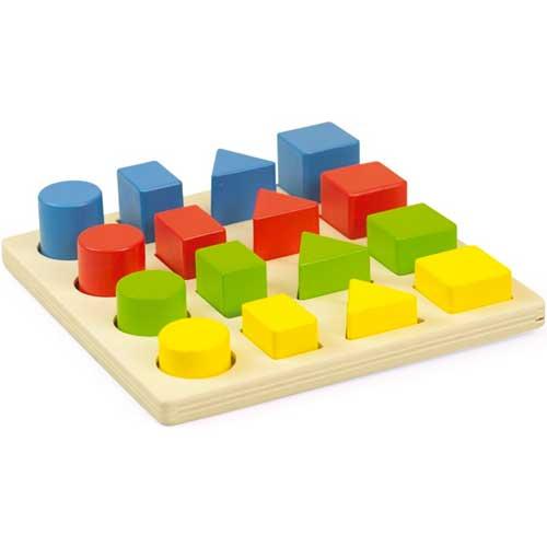 Encajable 3 formas 4 colores 4 tamaños