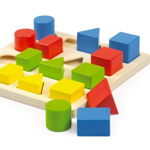 Encajable 3 formas 4 colores 4 tamaños detalle 1