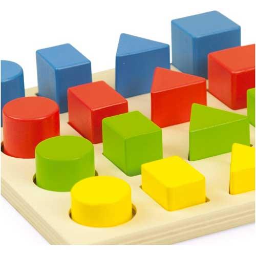 Encajable 3 formas 4 colores 4 tamaños detalle 2