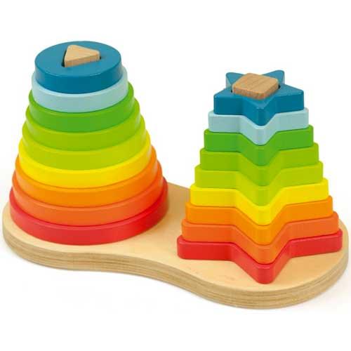Apilable arco iris madera