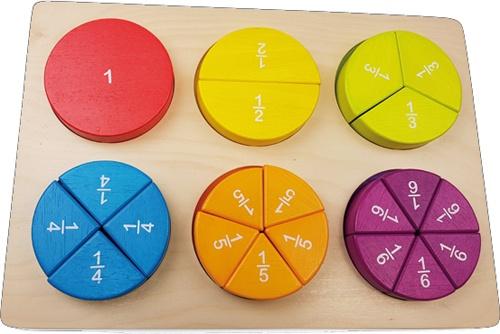 Puzzle de fracciones detalle 1
