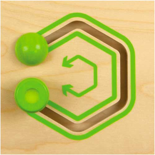 Deslizar figuras geométricas madera detalle 4