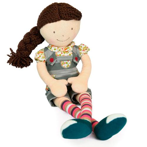Muñeca de trapo pelo rizado